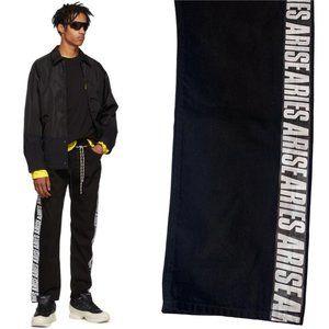 ARIES ARISE Jeans - NWOT ARIES ARISE Side Stripe TIE SHOE LACE JEANS